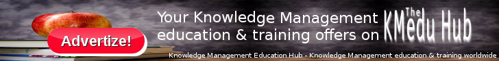 Advertise with Knowledge Management Education Hub | Knowledge Management training & education worldwide